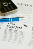 Find the right job Stock Photography