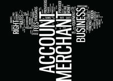 Find The Right Merchant Account Provider For Your Business Word Cloud Concept. Find The Right Merchant Account Provider For Your Business Text Background Word Stock Photos