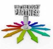 Find the Right Partner Choose Candidate Collaborate Cooperate Royalty Free Stock Photo