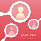 Find right person. Choosing the talented people for hiring. Stock Image