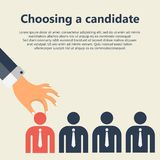 Find the right person for the job concept. Hiring and recruiting new employees. Flat vector design Stock Photo