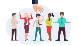 Find the right person for the job concept. Hiring and recruiting new employees. Flat vector. Design royalty free illustration