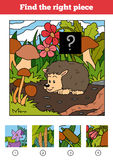 Find the right piece, game for children. Hedgehog Stock Photos