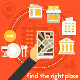 Find The Right Place Concept Stock Image