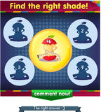 Find the right shade apple 3. Visual Game for children. Task: Find the right shade Royalty Free Stock Photos