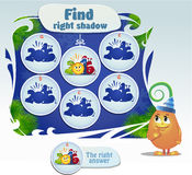 Find the right shade boy. Visual Game for children. Task: find right shade Stock Photos