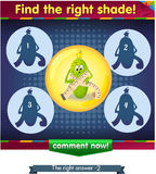 Find the right shade cucumber 2. Visual Game for children. Task: Find the right shade Stock Photo