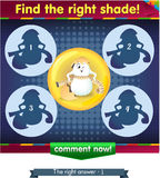Find the right shade egg 2. Visual Game for children. Task: Find the right shade Royalty Free Stock Photography