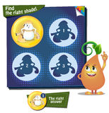 Find the right shade egg. Visual Game for children. Task: Find the right shade Royalty Free Stock Photography