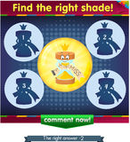 Find the right shade hourglass 2. Visual Game for children. Task: find the right shade Stock Photo