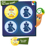 Find the right shade hourglass. Visual Game for children. Task: find the right shade Royalty Free Stock Images