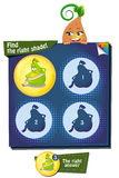 Find the right shade pear. Visual Game for children. Task: Find the right shade Royalty Free Stock Photography