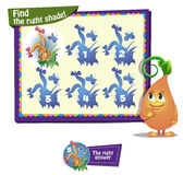 Find the right shade. Visual Game for children. Find the right shade Royalty Free Stock Image