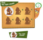 Find the right shade. Visual Game for children. Task: find the right shade Royalty Free Stock Photo