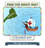 Find the right way. Columbus Day. Find the right way Royalty Free Stock Image