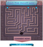 Find the right way  Greece 2. Visual Game for children. Task: find the right way out of the maze Royalty Free Stock Photos