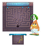 Find the right way  Greece. Visual Game for children. Task: find the right way out of the maze Stock Image