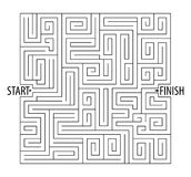 Find the right way. Logical games. Maze Game. Tangled lines. Vector illustration.  on white background Stock Photos