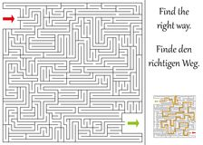 Find the right way. Through the maze Stock Images