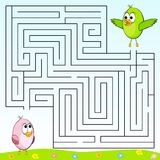 Find the right way. Through the maze Stock Photography