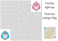 Find the right way. Through the maze Royalty Free Stock Images