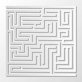 Find the right way. Through the maze Stock Photo