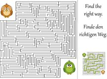 Find the right way. Through the maze Royalty Free Stock Photo