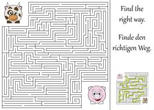 Find the right way. Through the maze Royalty Free Stock Image