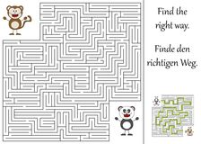 Find the right way. Through the maze Stock Photos