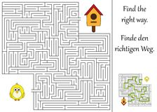 Find the right way. Through the maze Stock Image
