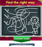 Find the right way 1. Нow chalk painted boy. Find the right way Royalty Free Stock Image