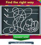 Find the right way -3. Нow chalk painted portfolio. Find the right way Stock Photos