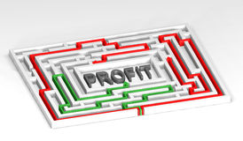 3d Maze Profit Stock Photography