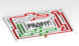 3d Maze Profit Stock Photography