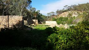 Building ruins in Adelaide Hills. Find these ruins in the foothills of Adelaide South Australia in a national park stock photography