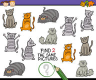 Find same picture cartoon game Stock Photography