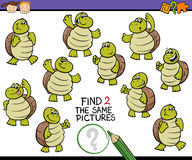 Find same picture game cartoon Stock Photography