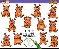 Find same picture game cartoon Stock Image