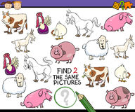 Find same picture game cartoon Royalty Free Stock Photography