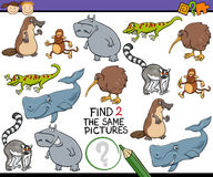 Find same picture game cartoon Royalty Free Stock Images