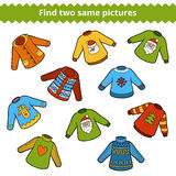 Find the same pictures. Set of sweaters Royalty Free Stock Photos