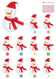 Find The Same Snowman_eps. Illustration of snowman with find the same game, test your memory, after 3 seconds hide the first image Stock Photos