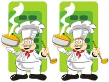 Find the seven differences. Game for children's: spot the 7 differences between these two cooks Royalty Free Illustration