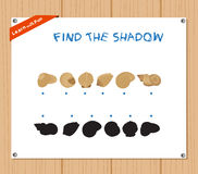 Find the Shadow Educational Activity Task for Preschool Children with summer.  Stock Photography