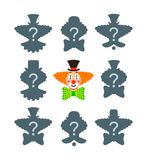 Match the correct clown shadow puzzle game Royalty Free Stock Photo