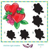 Find the shadow of pictures. Find the shadow of picture - vector heart Royalty Free Stock Photos