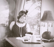 Find Similar  Get a Comp  Save to LightboxRetro Woman 1920s - 19 Royalty Free Stock Image