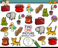 Find single picture game cartoon Stock Photography