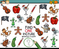 Find single picture game cartoon Royalty Free Stock Photography