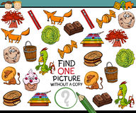 Find single picture game cartoon Royalty Free Stock Photo